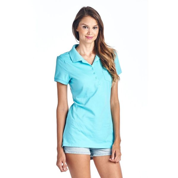 Women's Turquoise Polo T-Shirt