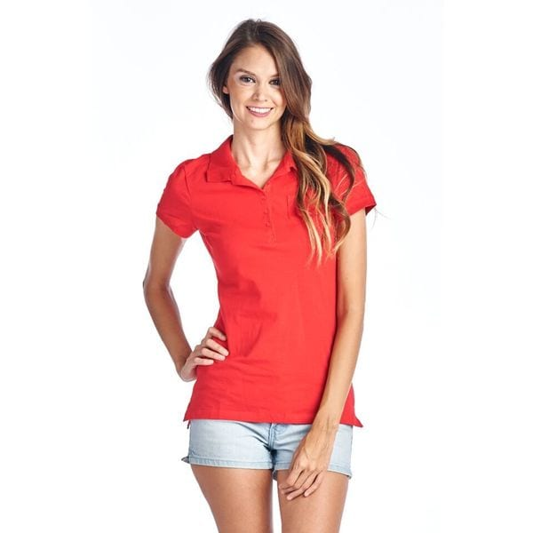 Women's Red Polo Shirt
