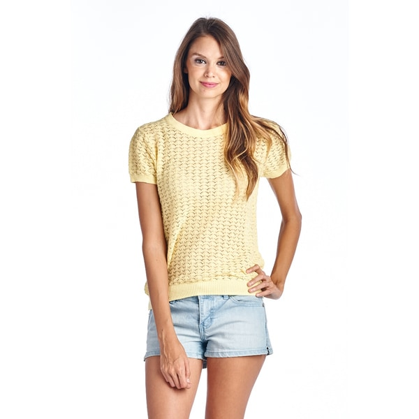 Women's Sheer Yellow Blouse