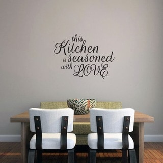 This Kitchen Is Seasoned With Love Wall Decal (24-inch x 18-inch)