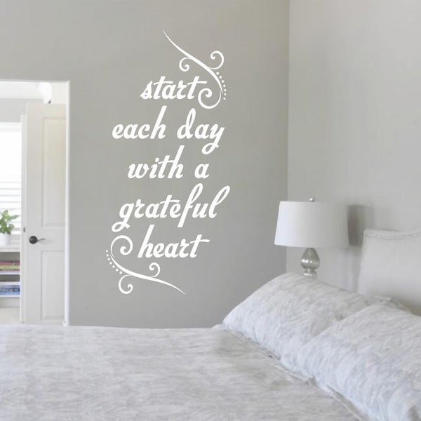 Start Each Day with a Grateful Heart (12-inch x 24-inch)