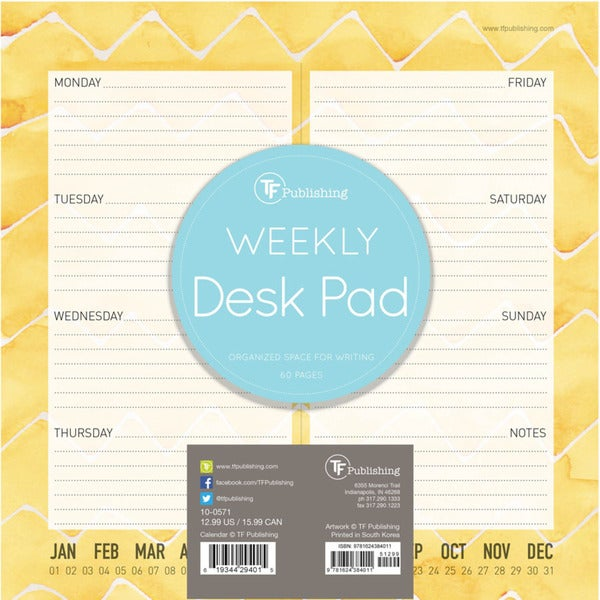 Citrus Weekly Desk Pad