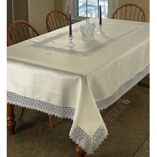Violet Linen Treasure Lace Tablecloth