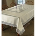 Violet Linen Treasure Lace Tablecloth