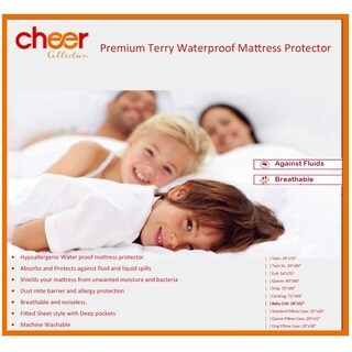 Cheer Collection Terry Cotton Water Proof Mattress Protector - Baby Crib