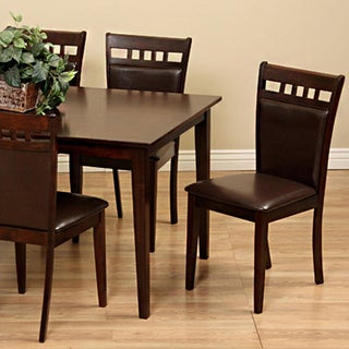 Shirlyn Brown Bi-cast Leather Dining Chair (Set of 4)