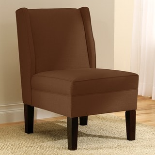 Skyline Furniture Linen Chocolate Wingback Chair