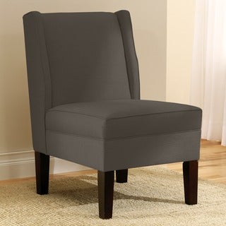 Skyline Furniture Linen Charcoal Wingback Chair