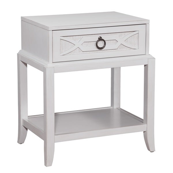 Greyson Living Gladstone Antique White 1-drawer Night Table