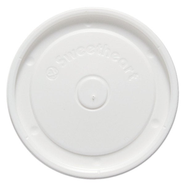 SOLO Cup Company White Polystyrene Food Container Lids (Pack of 1000)