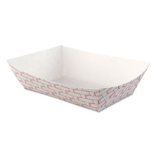 Boardwalk Red/White Paper Food Baskets (Pack of 500)