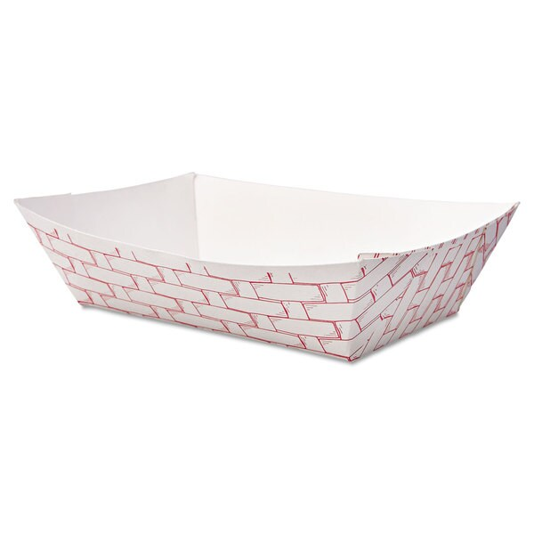 Boardwalk Red/White Paper Food Baskets (Pack of 1000) 16474483