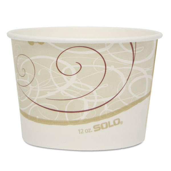 SOLO Cup Company Single Poly Paper Container (Pack of 1200)