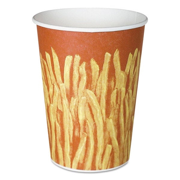 SOLO Cup Company Yellow/Brown Fry Design Paper French Fry Cups (Pack of 500)