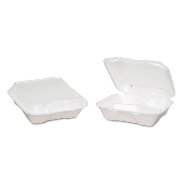 Genpak Snap-it Vented White Foam Hinged Container (Pack of 200)