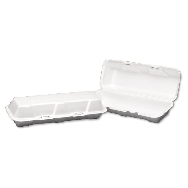 Genpak White Foam Hinged Hoagie Containers (Pack of 200)