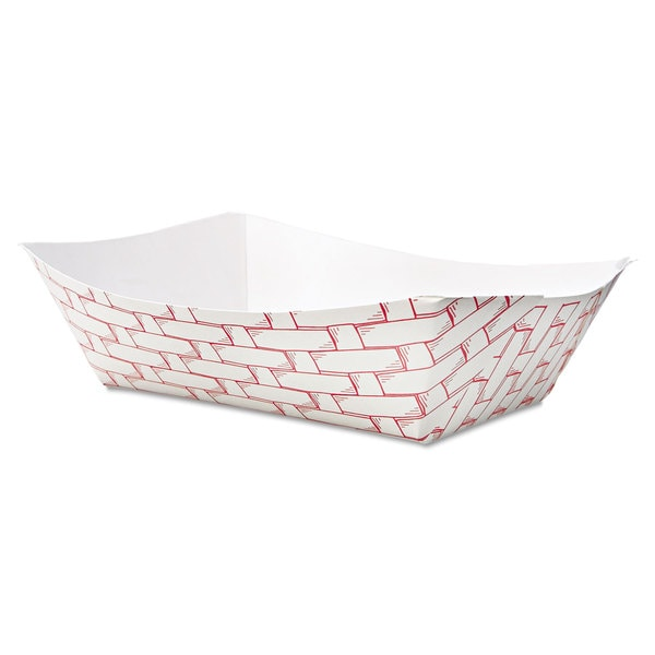 Boardwalk Red/White Paper Food Baskets (Pack of 500) 16474535