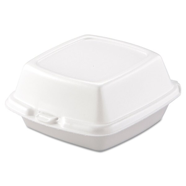 Dart Carryout White Foam Food Containers (Pack of 500) 16474567