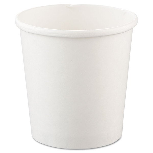 SOLO Cup Company White Flexstyle Double Poly Paper Containers (20 Packs of 25 Containers)