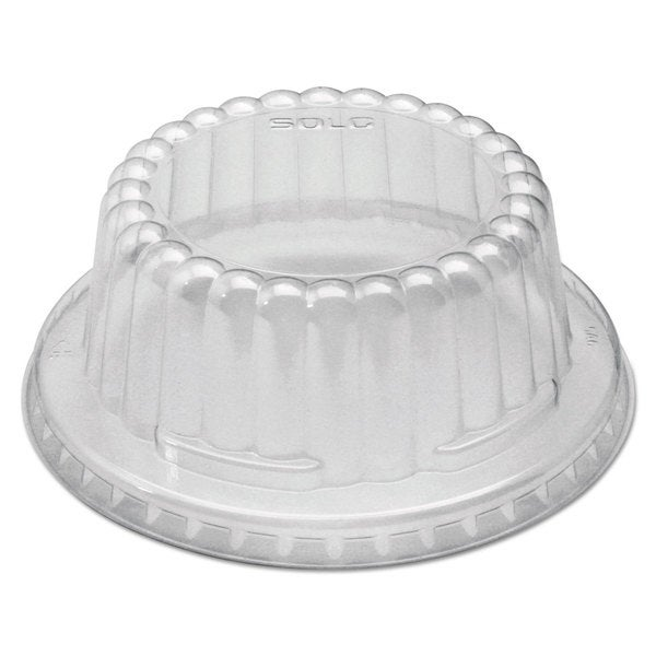 SOLO Cup Company Clear Flat-Top Dome PET Plastic Lids f/6-10 oz Containers (Pack of 1000)