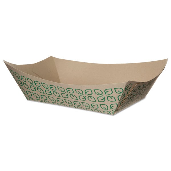 Eco-Products White/Green Sugarcane Food Tray (Pack of 500)