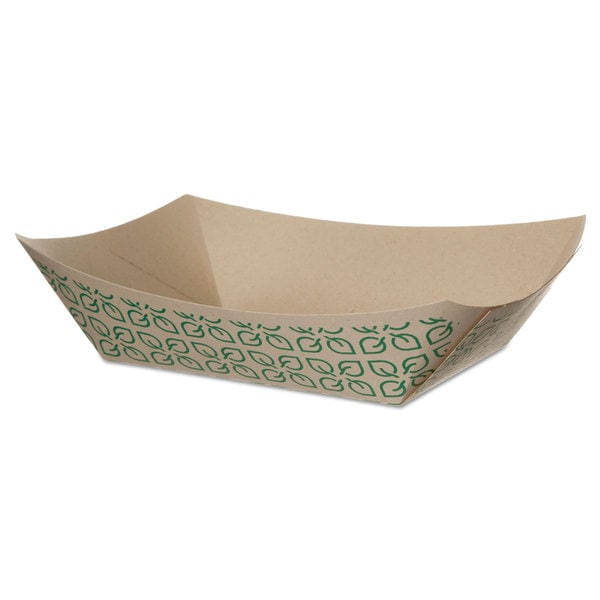 Eco-Products White/Green Sugarcane Food Tray (Pack of 1000)