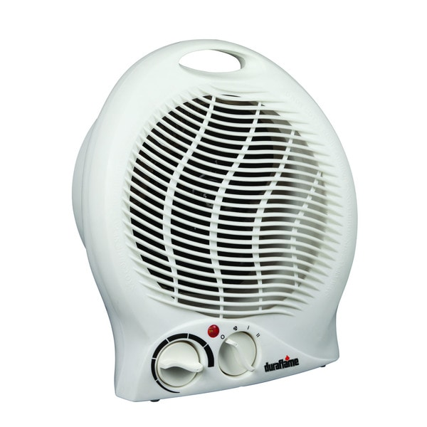 Duraflame DFH-NH-3-T Portable Electric Desktop Heater with Integrated Handle, White