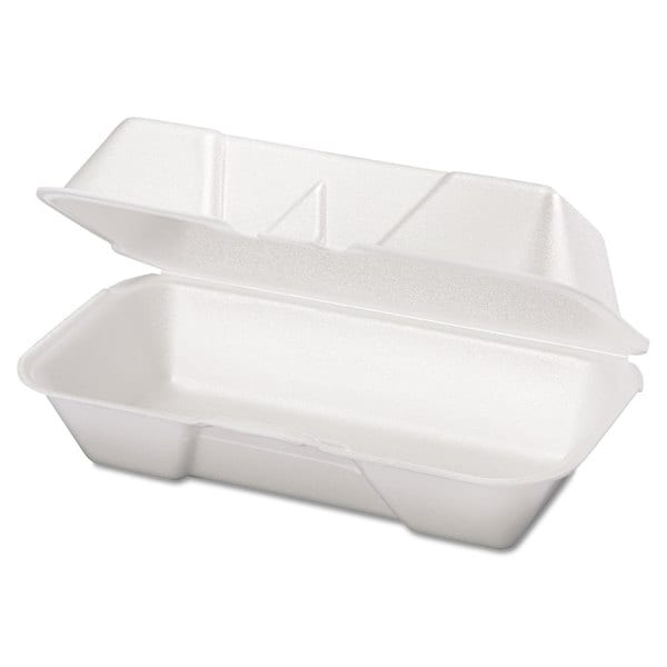 Genpak White Foam Hoagie Containers (4 Packs of 125 Containers)