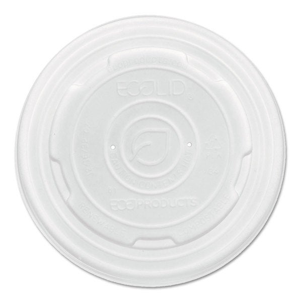 Eco-Products World Art PLA-Laminated Translucent Soup Container Lids (Pack of 1000)