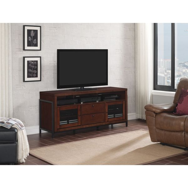 """Bell'O BFA63-94816-COJ Greenwich 63"""" TV Stand for TVs up to 70"""", Cocoa"""