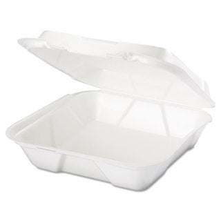 Genpak Snap It White Foam Containers (Pack of 200)