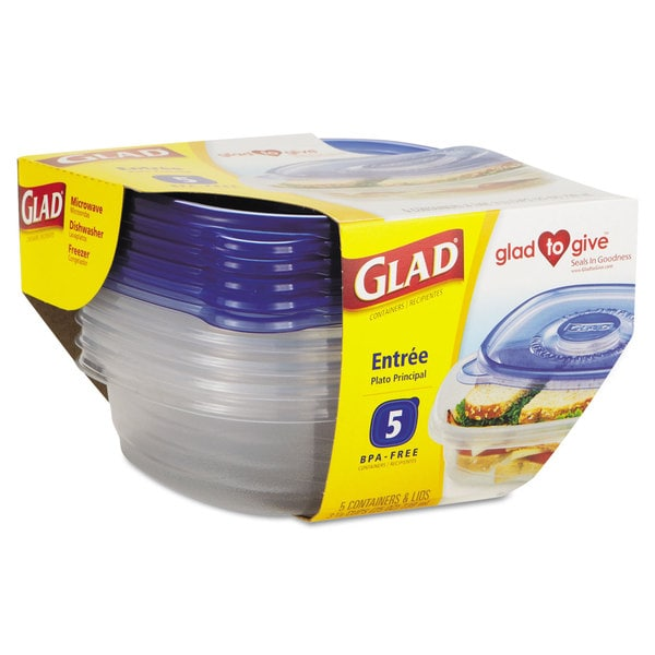 Glad GladWare Entre Food Storage Containers (6 Packs of 5 Containers/Lids)