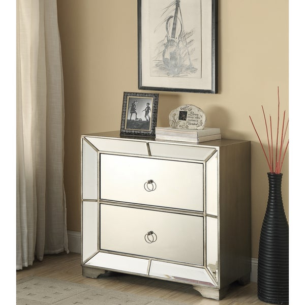 Bombay Outlet Juniper Mirrored 2 Drawer Chest
