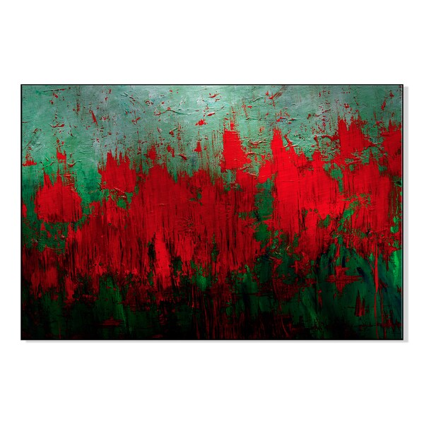 Amazon Red Print by Lisa Fabian on Mounted Metal Wall Art