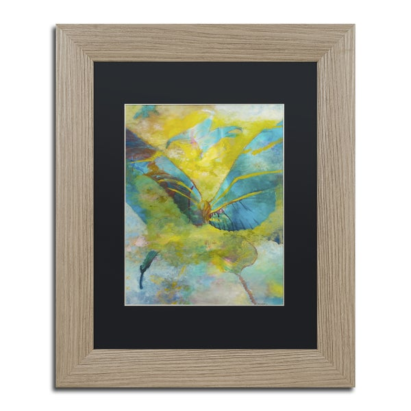 Rickey Lewis 'Butterflight' Black Matte, Birch Framed Wall Art
