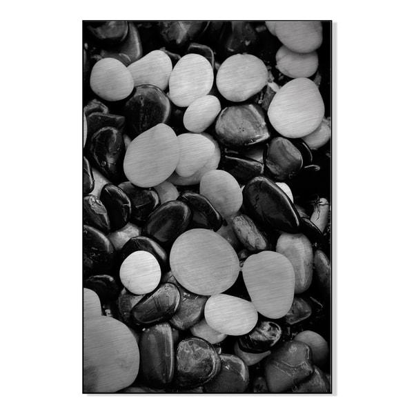 Stones Print by Michael Joseph on Mounted Metal Wall Art