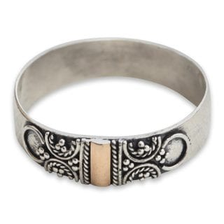 Handcrafted Gold Overlay 'Glad Arabesques' Ring (Indonesia)
