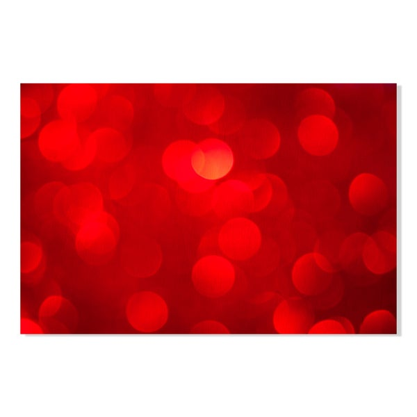 red bokeh background Print on Birchwood Wall Art