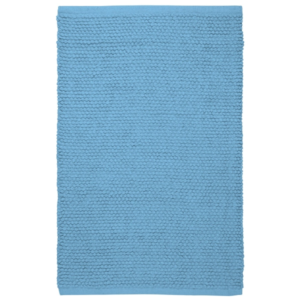 Plush Nubby Light Blue 30 x 50 inch Bath Rug