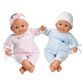 Classic Girl and Boy Twin Dolls