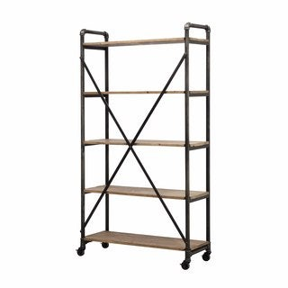 angelo:HOME Ludlow Reclaimed Wood and Metal 5 Shelf Wall Unit