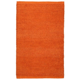 Plush Nubby Orange 21 x 34 Inch Bath Rug