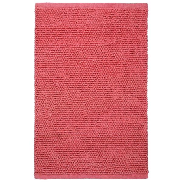 Plush Nubby Pink 21 x 34 inch Bath Rug