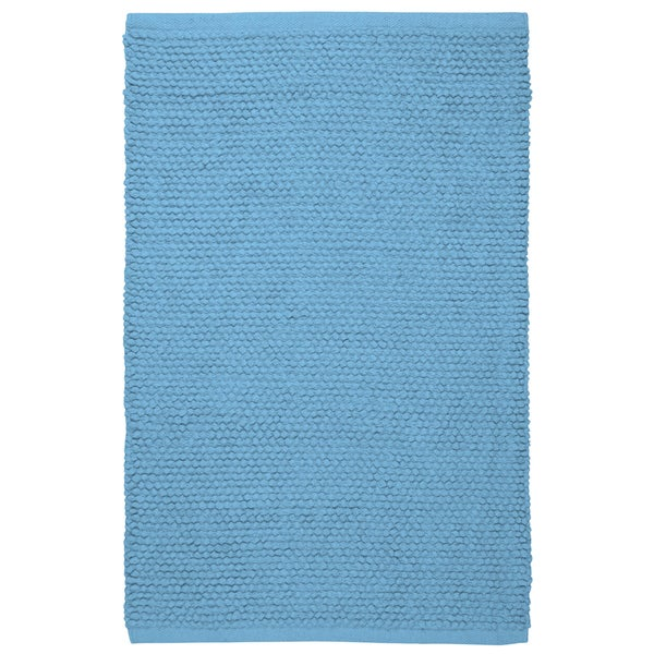 Plush Nubby Light Blue 21 x 34 inch Bath Rug