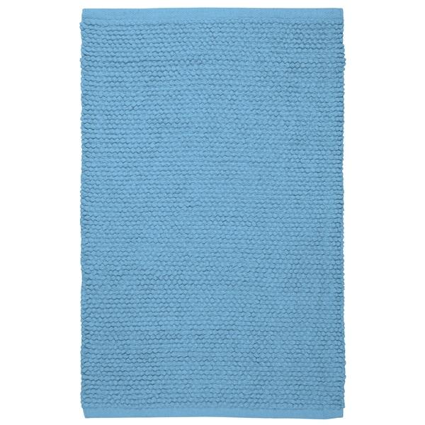 Plush Nubby Light Blue 21 x 34 inch Bath Rug