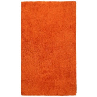 Plush Pile Orange 21 x 34 inch Bath Rug