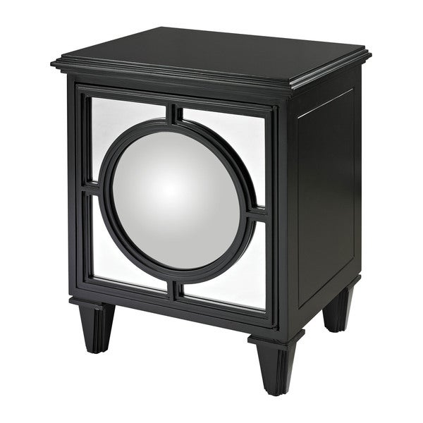 Mirage Gloss Black Cabinet with Convex Mirror