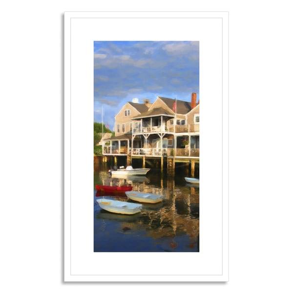 ian woolcock 'Lantic Bay Cornwall England' Framed Paper Art