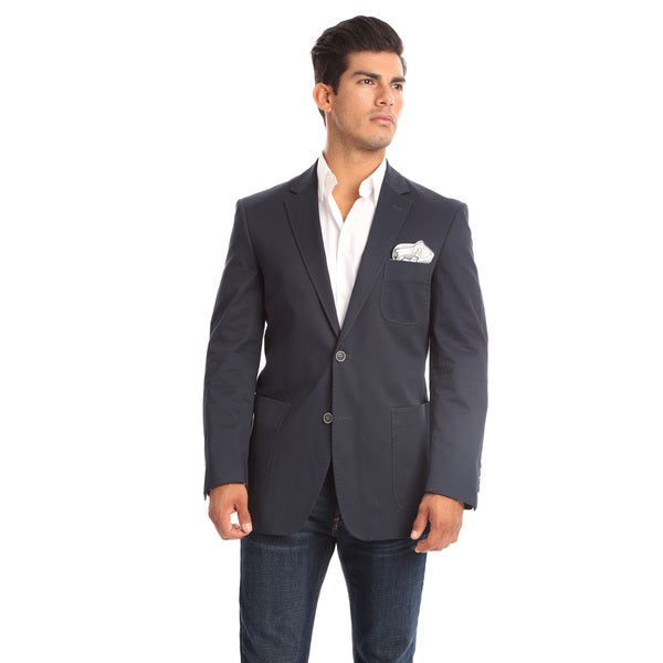 Verno Marchesi Men's Navy Classic Fit Cotton Sports Coat 50L Size(As Is Item)