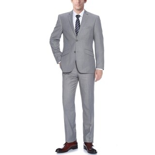 Verno Bellomi Men's Light Grey Slim Fit Italian Styled Two Piece Suit